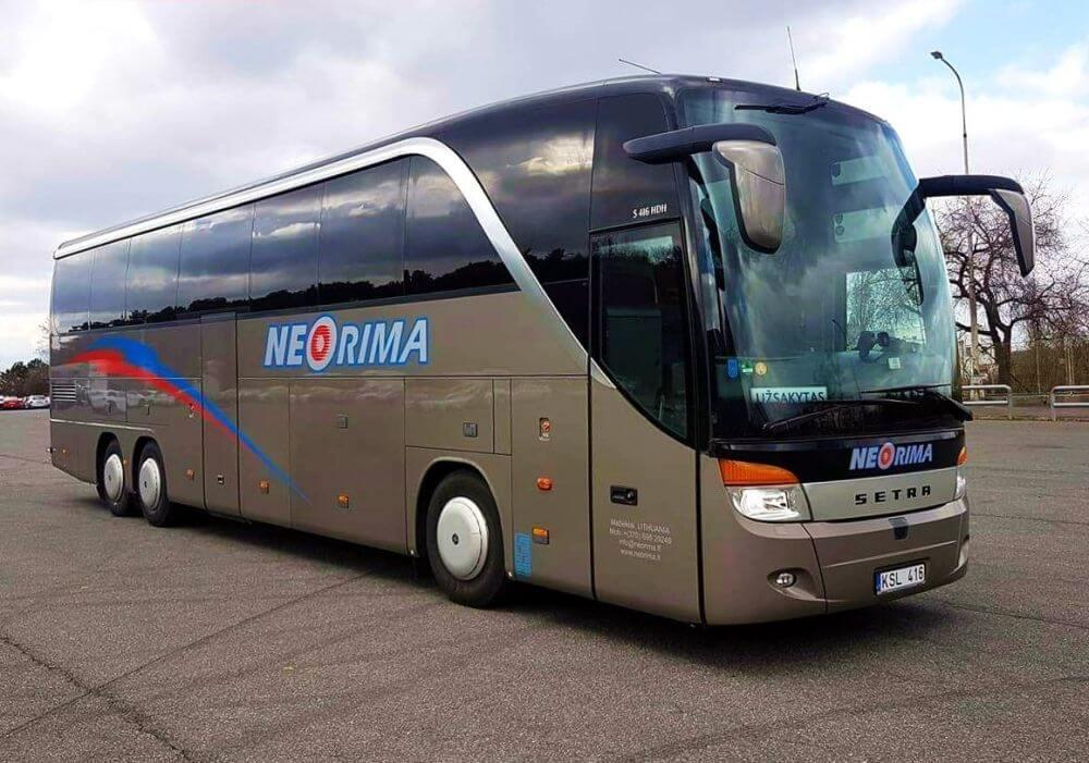 Prabangus autobusas SETRA 416HDH. Autobuso nuoma kelionėms.